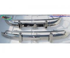 Volvo PV 544 US type bumper in stainless steel (1958-1965