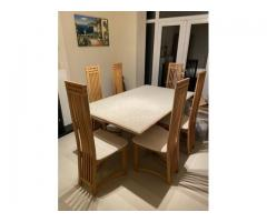 Travertine Marble Dining Table & Chairs